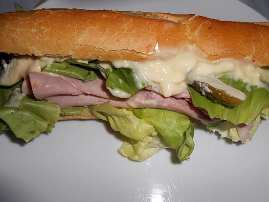 Baquette au jambon garnie Ce-soir-envie-de-sandwich