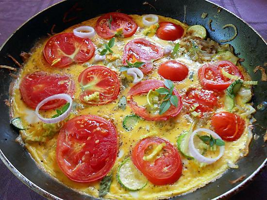 Recette de frittata tomates et courgettes - Recettes rapides 10 a 15 minutes maxi ...
