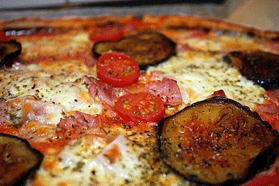 Recette de pizza aux aubergines grill es - Recette aubergine grillee ...