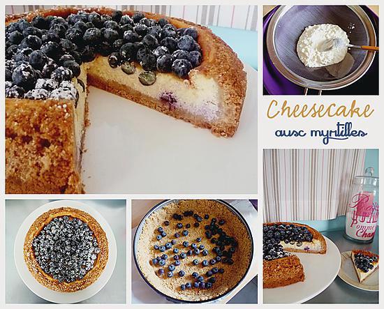 recette Cheesecake aux myrtilles