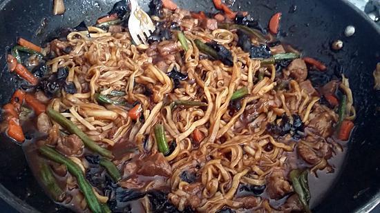 recette Wok de nouille pad thaï