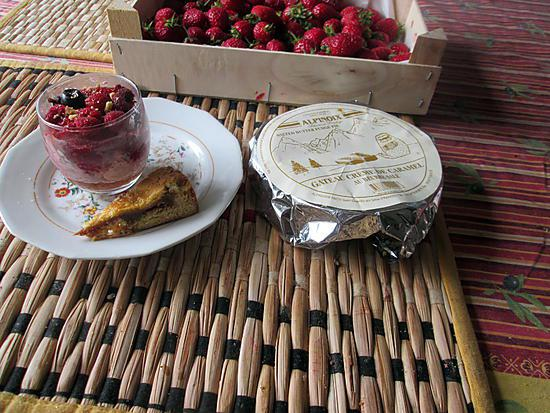 recette verrine fraises, faisselle