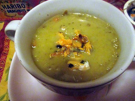 recette soupe moules, coques