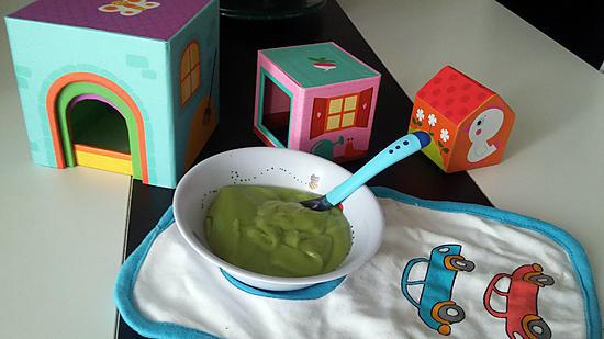 recette Purée bébé brocolis pomme de terre kirri
