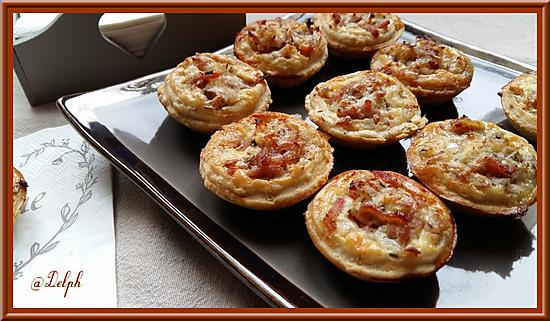 recette Tartelettes au rapé de jambon