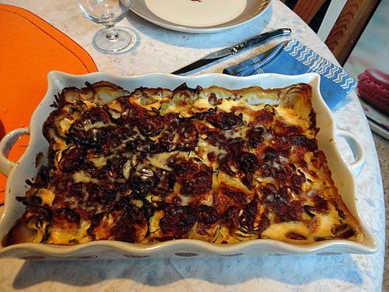 recette COURGETTE brie mozzarella