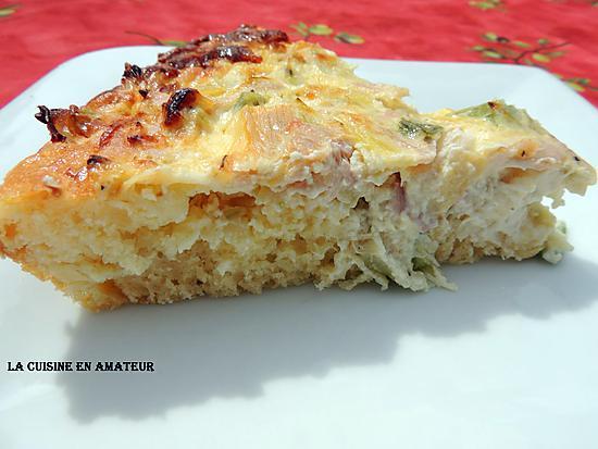 recette Tarte levée au poireau et lard