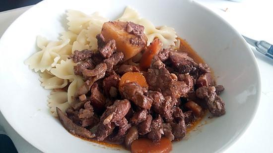 Recette de saut de porc bourguignon - Saute de porc cocotte minute ...