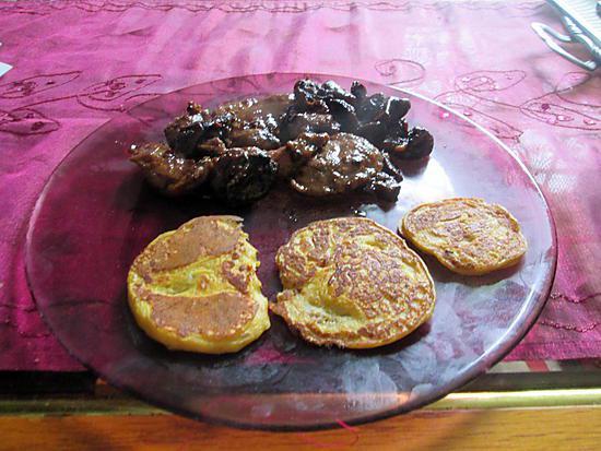 recette boeuf  champignons,  galette patate  douce