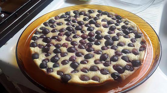 recette clafoutis de raisin de  mon pépétou