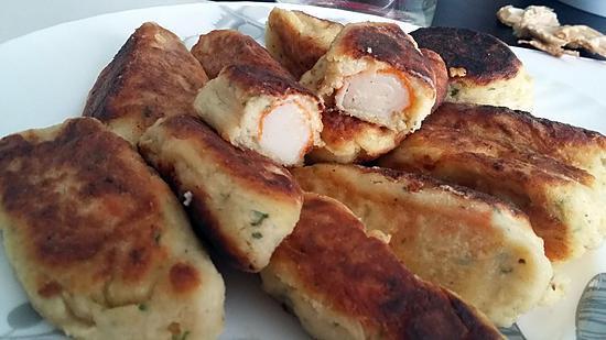 recette Croquette de pomme de terre au surimi