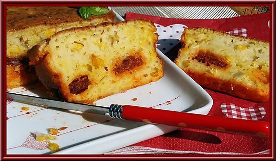 recette Cake au Maïs Chorizo et Safran