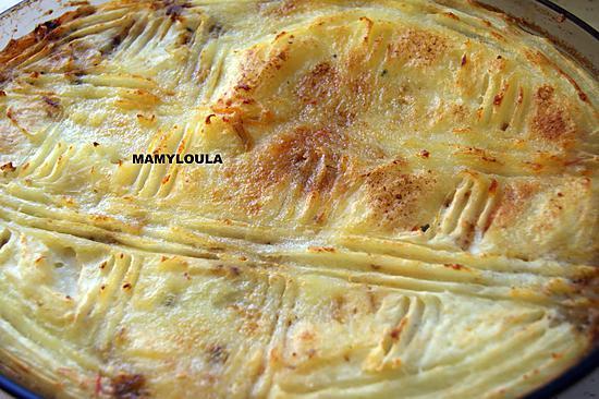 recette Hachis parmentier au potimarron, tomates et porc