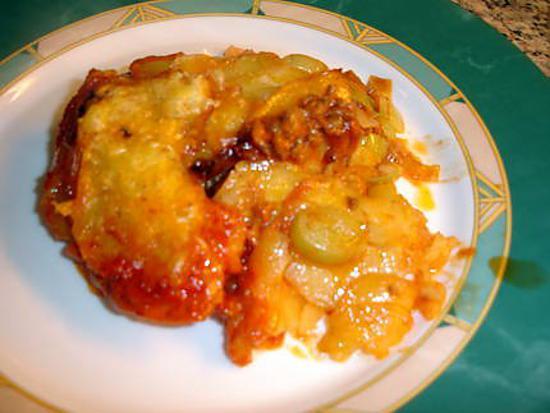recette Savoureux gratin avec sa viande ses poireaux et ses pomme de terre