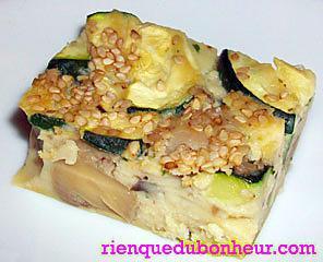 recette Clafoutis de cèpes, champignons de Paris & courgettes