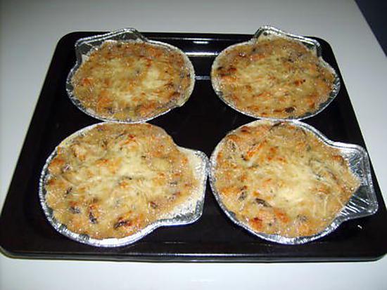 recette Gratin de moules /crevettes / bleu