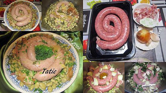 recette Fèves à la saucisse longue.