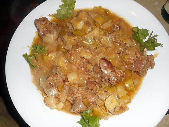 recette Sauté de veau au poireaux