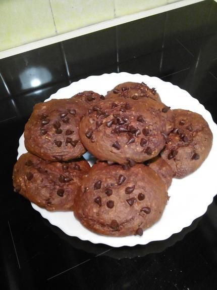 recette de cookies moelleux sans beurre sans sucre ajoute et sans complexe. Black Bedroom Furniture Sets. Home Design Ideas