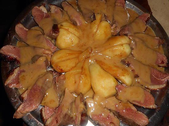 recette Magret de canard aux poires