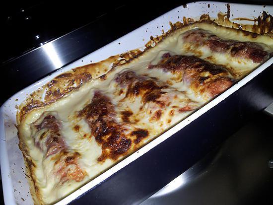recette Chou fleur au jambon-béchamel