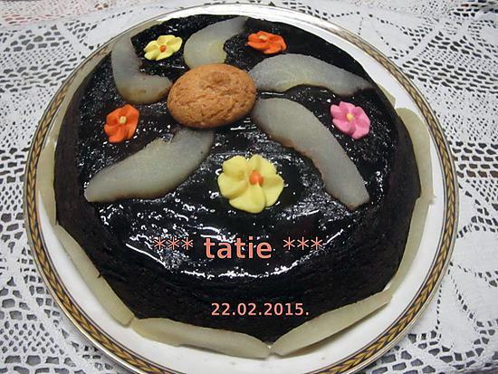 Recette gateau chocolat poire au micro onde