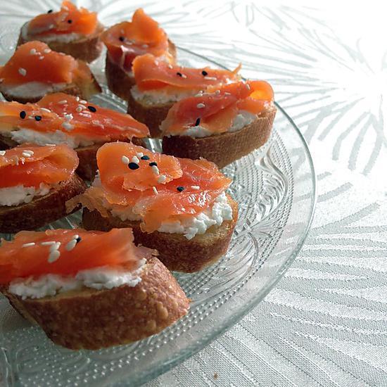 recette Croûtons Chèvre Saumon