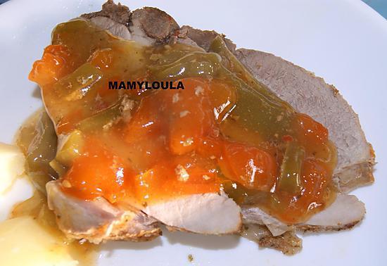 recette Roti de porc à la sauce Mamyloula