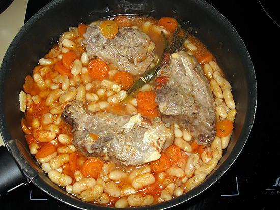 recette Collier d'agneau aux mogettes de Vendée