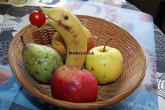 recette La banane dauphin (déco de table)