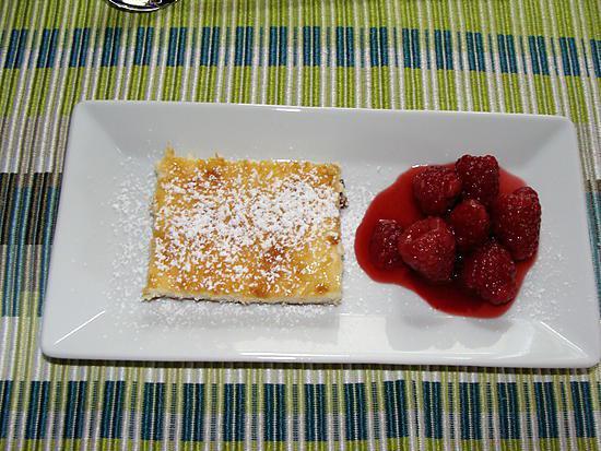 recette Cheesecake au spéculoos et ses framboises marinées