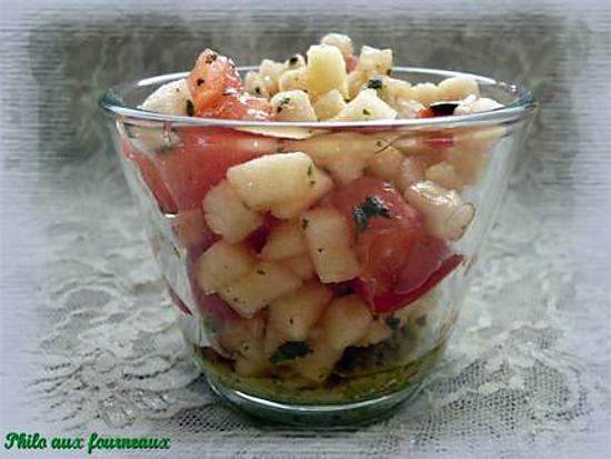 Recette de verrine au pesto la tomate la pomme for Petites entrees faciles