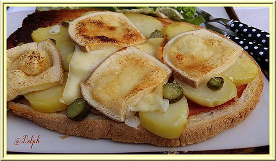 recette Tartine à la raclette