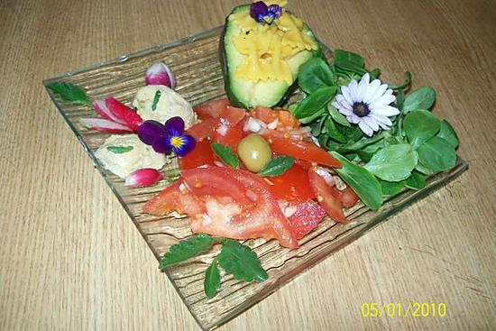 Recette d 39 assiettes printani res au foie gras - Decoration assiette de foie gras photo ...