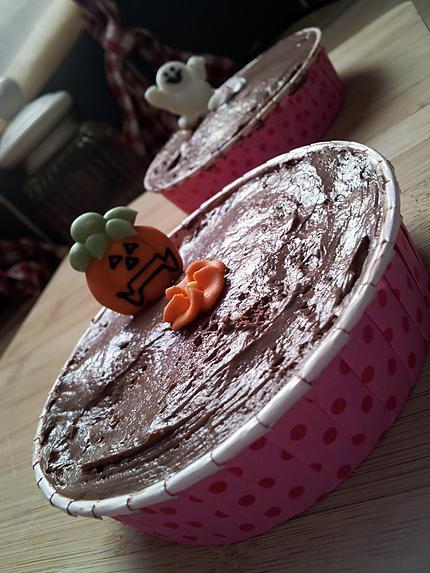 recette Tartelettes *Hallowen*de boudoirs à la mousse au chocolat