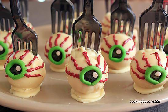 Recette de cakes pops sp cial halloween - Recette dessert halloween ...