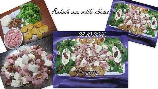 recette Salade aux mille choses.