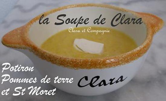 recette Soupe Potiron, Pommes de Terre et St Moret
