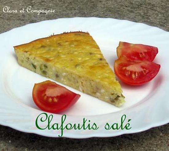 recette Clafoutis salé : féta, poivrons, olives, courgettes