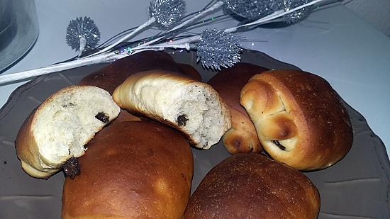 recette Petits pains briochés au chocolat thermomix
