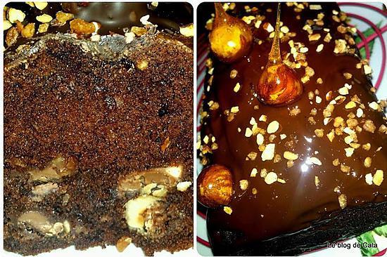 recette Cake chocolat praliné aux noisettes