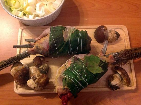 recette Poule faisane et risotto de cèpes