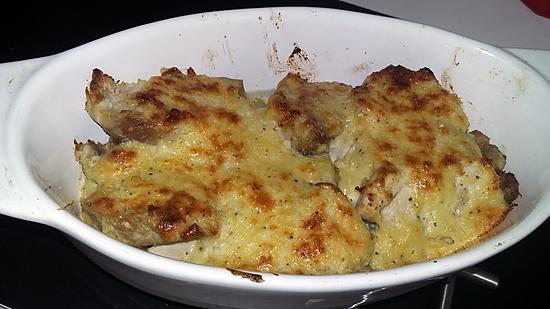 recette de rouelle de porc gratiné au fromage