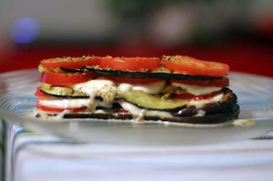 Recette d 39 aubergines grill es la mozzarella - Recette d aubergines grillees ...