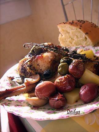 recette Lapin aux olives moutarde à l'ancienne.