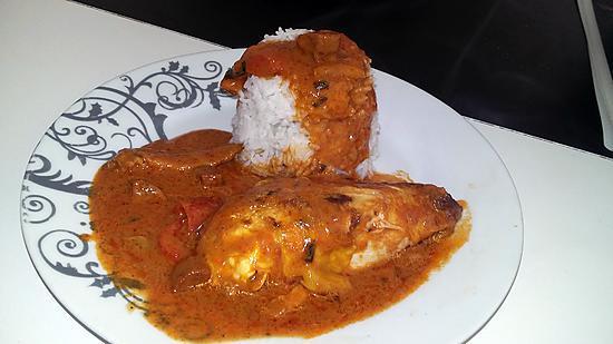recette Poulet au curry poivron