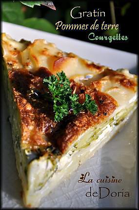 recette de gratin de pommes de terre et courgettes au lait de coco. Black Bedroom Furniture Sets. Home Design Ideas