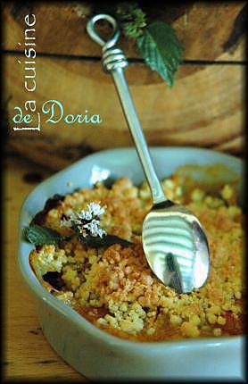 recette Crumble aux abricots et pommes