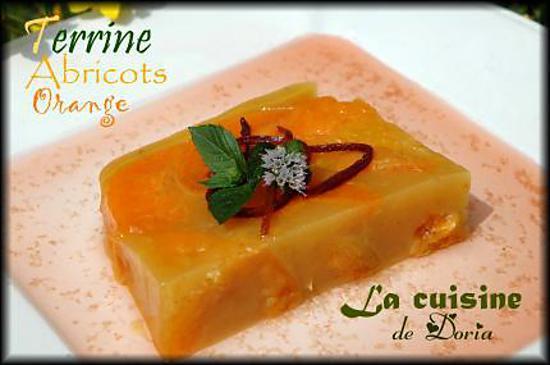 recette Terrine d'abricots oranges au Muscat de Riveslates et sauce au thé