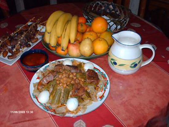 recette chakhchoukha ou(coupe et jette)